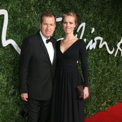 Mario Testino y Eva Herzigova acuden a los 'British Fashion Awards 2014' en Londres