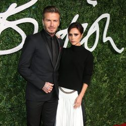 David y Victoria Beckham acuden a los 'British Fashion Awards 2014' en Londres