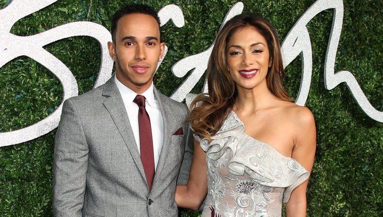 Lewis Hamilton y Nicole Scherzinger acuden a los 'British Fashion Awards 2014' en Londres