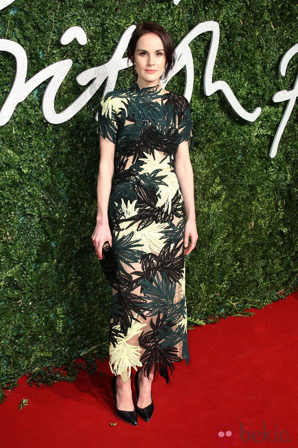 Michelle Dockery acude a los 'British Fashion Awards 2014' en Londres