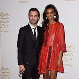 Nicolas Ghesquiere y Liya Kebede acuden a los 'British Fashion Awards 2014' en Londres
