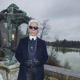Karl Lagerfeld en su propio desfile en Salzburgo