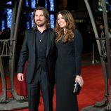Christian Bale y Sibi Blazic en el estreno mundial de 'Exodus' celebrado en Londres