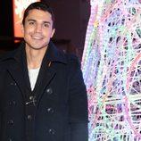 Álex González en el encendido de Navidad de un centro comercial