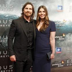 Christian Bale y Sibi Blazic en el estreno de 'Exodus' en Madrid