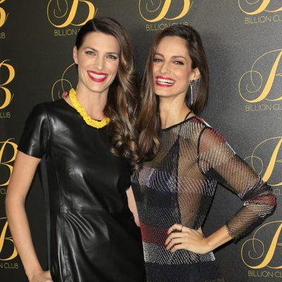 Laura Sánchez y Ariadne Artiles en la inauguración del local 'Billion Club' en Madrid