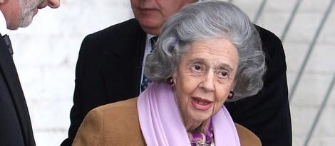 La Reina Fabiola de Bélgica en un acto oficial en 2009