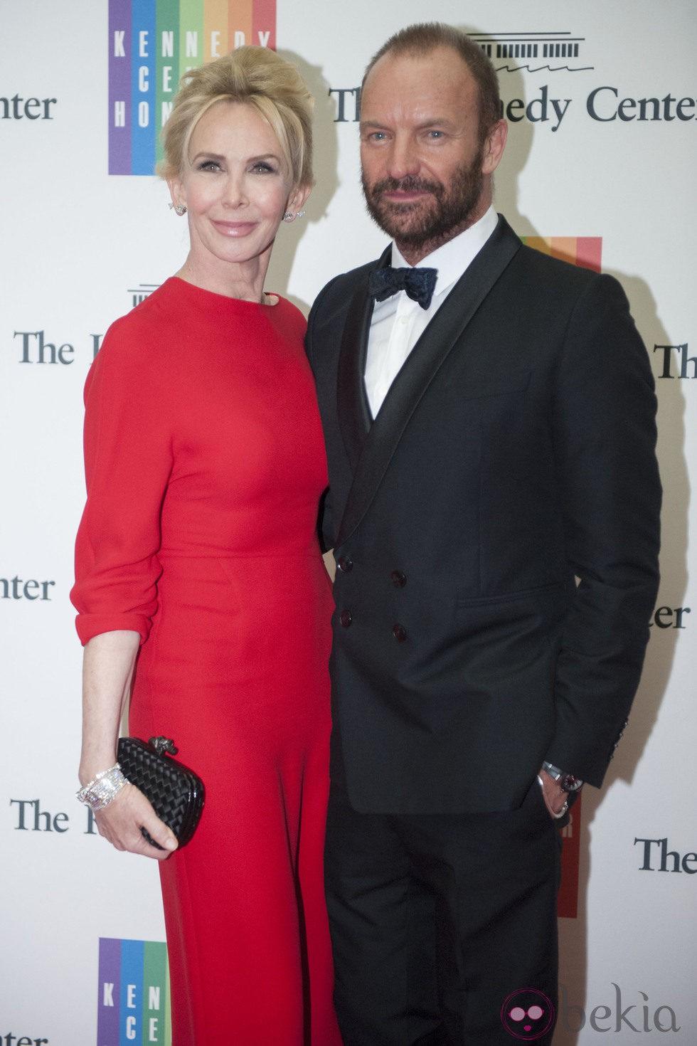 Sting y Trudie Style en la entrega del Premio Kennedy 2014