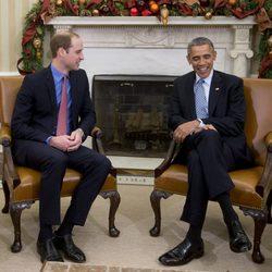 El Príncipe Guillermo se reúne con Barack Obama en la Casa Blanca
