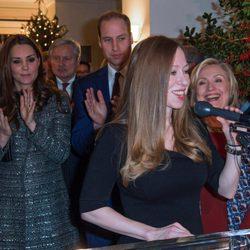 Hillary y Chelsea Clinton con los Duques de Cambridge en un acto de la Fundación Clinton