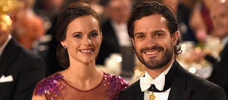 Carlos Felipe de Suecia y Sofia Hellqvist en los Premios Nobel 2014