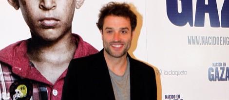 Daniel Guzmán en el estreno de 'Nacido en Gaza'