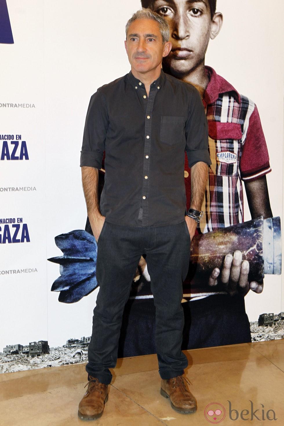 Jon Sistiaga en el estreno de 'Nacido en Gaza'
