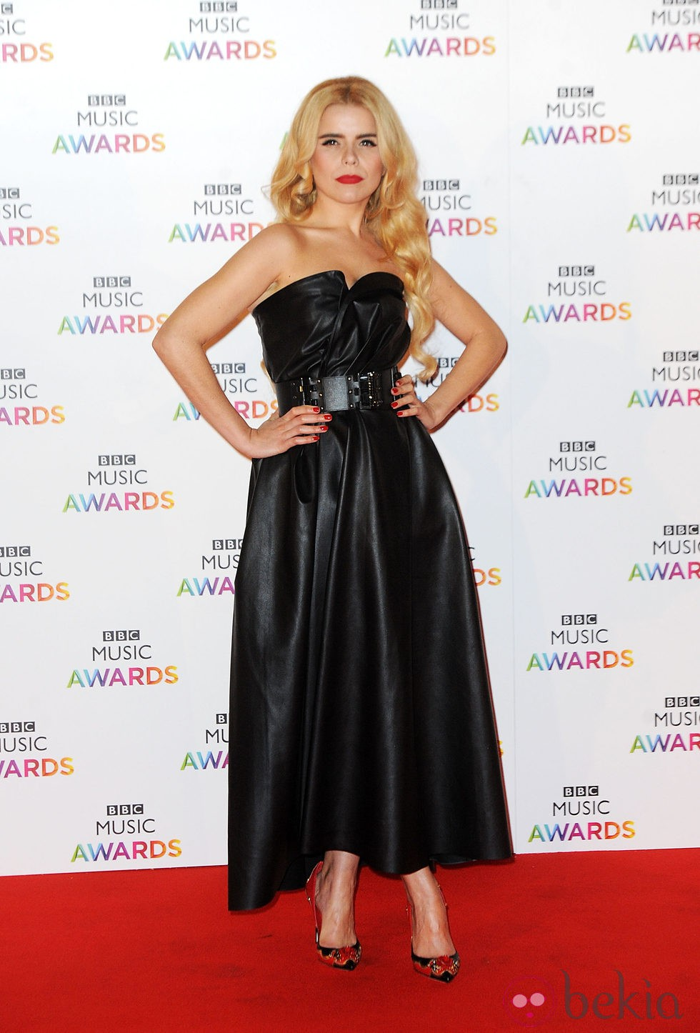 Paloma Faith en la entrega de los BBC Music Awards 2014