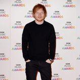 Ed Sheeran en la entrega de los BBC Music Awards 2014
