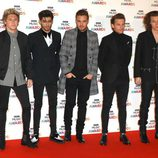 One Direction en la entrega de los BBC Music Awards 2014