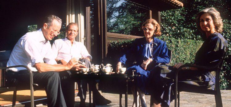 Los Reyes Juan Carlos y Sofía con los Reyes Balduino y Fabiola de Bélgica