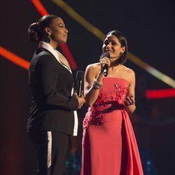 Queen Latifah y Freida Pinto en el 'Nobel Peace Prize Concert 2014'