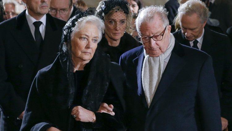 Alberto y Paola de Bélgica en el funeral de la Reina Fabiola