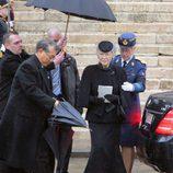 Michiko de Japón en el funeral de Fabiola de Bélgica