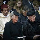 Moulay de Marruecos, Michiko de Japón y Margarita de Dinamarca en el funeral de Fabiola de Bélgica