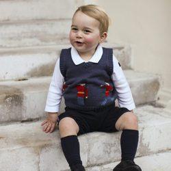El Príncipe Jorge de Cambridge, en su nuevo retrato navideño