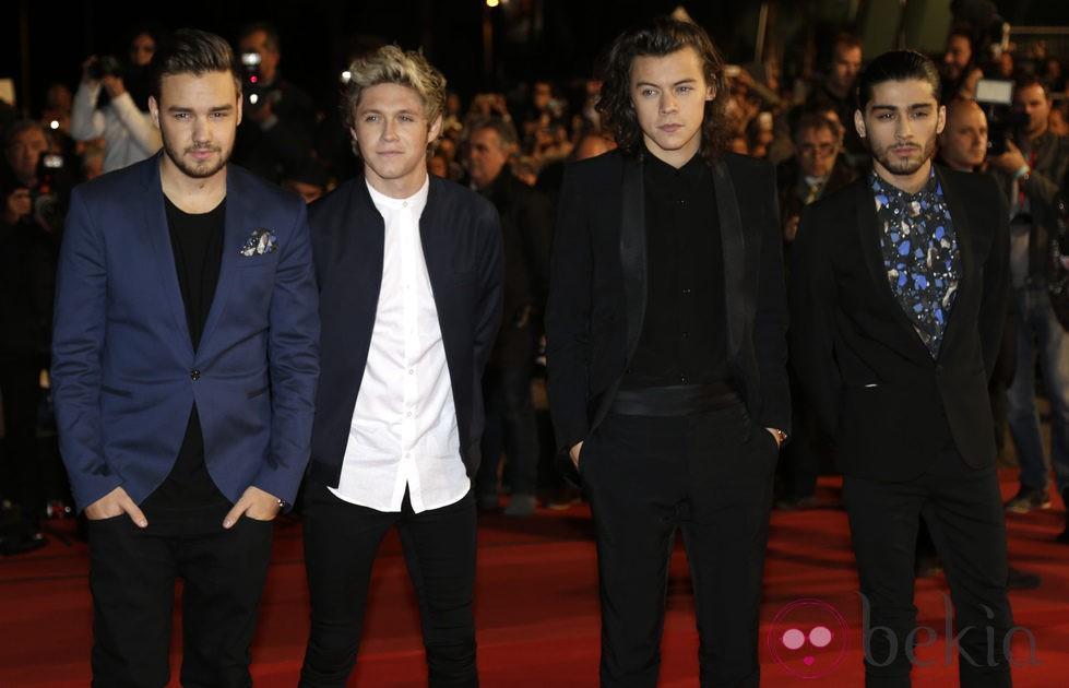 One Direction en la entrega de los premios NRJ Awards 2014