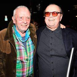 David Bailey en su exposición sobre los Rolling Stones con Jack Nicholson
