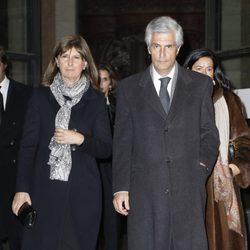Adolfo Suárez Illana en el funeral de la Duquesa de Alba en Madrid