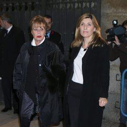 Gemma Cuervo y Natalia Guillén Cuervo en el funeral de la Duquesa de Alba en Madrid