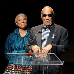 Bill Cosby y su esposa Camille en el 75º Aniversario del Teatro Apollo de Nueva York