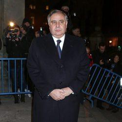 Fernando Martínez de Irujo en el funeral de la Duquesa de Alba en Madrid