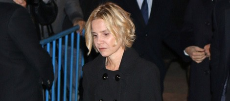 Eugenia Martínez de Irujo en el funeral de la Duquesa de Alba en Madrid