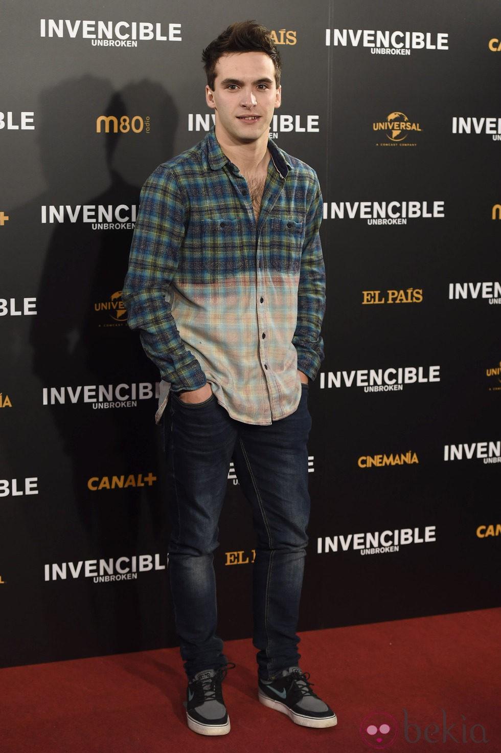 Ricardo Gómez en el estreno de 'Invencible' en Madrid
