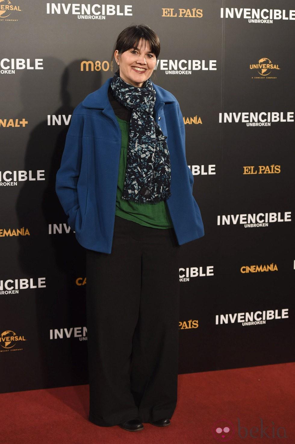 María Belón en el estreno de 'Invencible' en Madrid