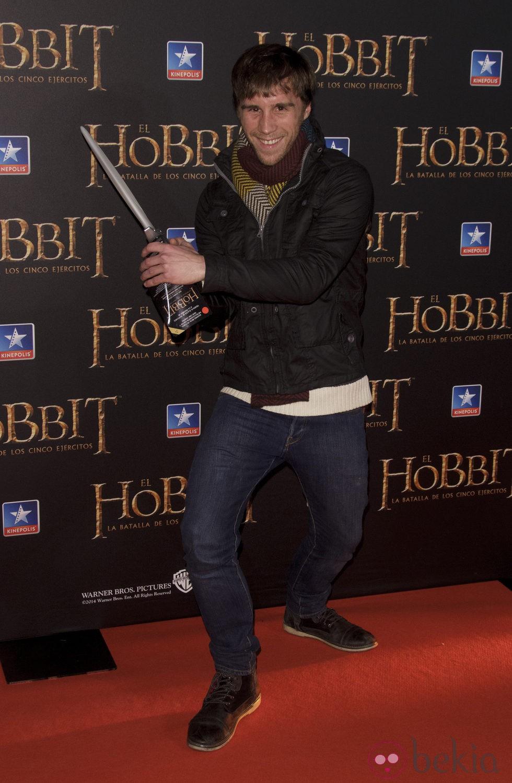 Bernabé Fernández en el estreno de 'El Hobbit: La batalla de los cinco ejercitos'