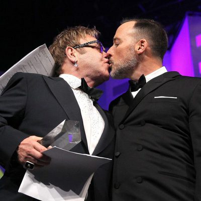 Elton John y David Furnish en la cena anual del Human Rights Campaign