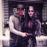 Lewis Hamilton y Nicole Scherzinger en el musical 'Cats'