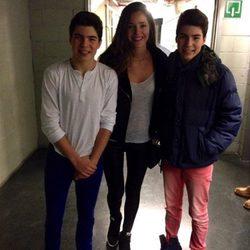 Malena Costa con los Gemeliers en su concierto de Madrid