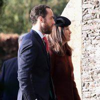 James y Pippa Middleton en la tradicional Misa de Navidad de la Familia Real Británica