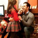 Paula Echevarría y David Bustamante felicitan la Navidad 2014 con su hija Daniella