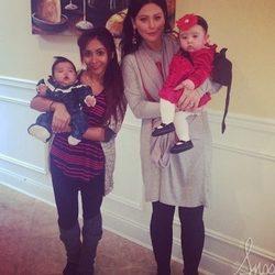 Snooki y JWoww felicitan la Navidad 2014 con sus hijas Giovanna y Meilani