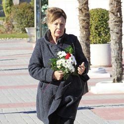 Gemma Cuervo en el funeral de Máximo San Juan
