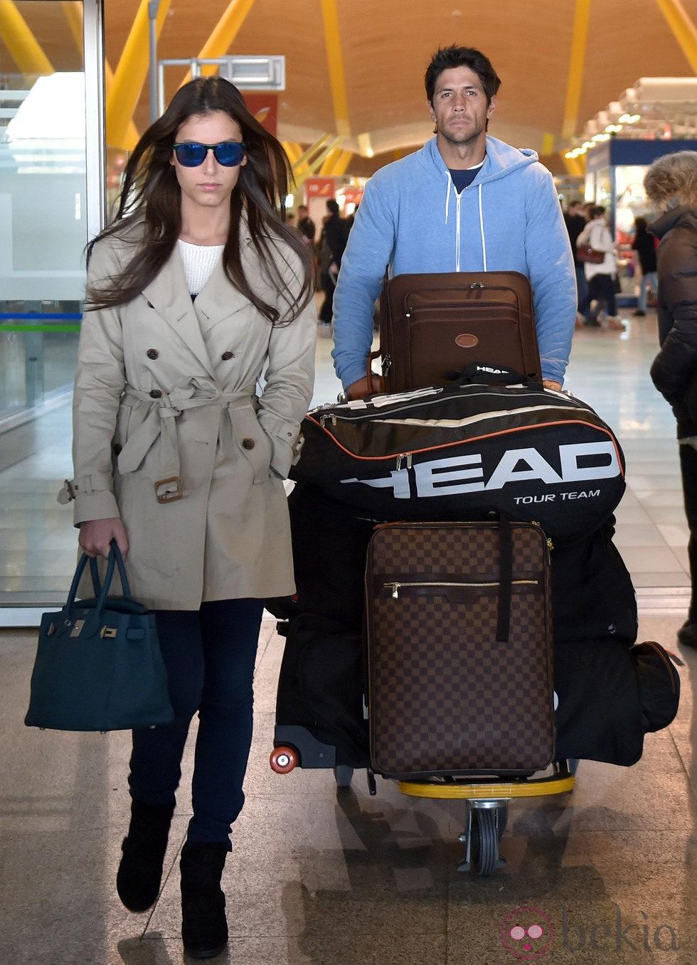 Ana Boyer y Fernando Verdasco vuelven a Madrid tras pasar la Navidad en Miami