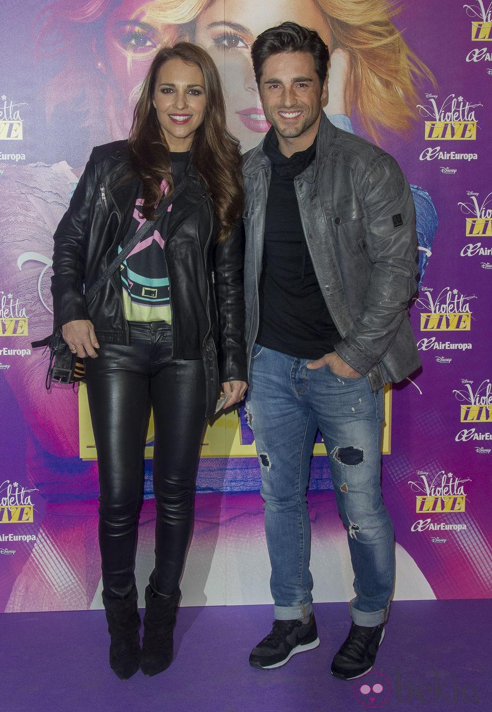 Paula Echevarría y David Bustamante en el concierto de Violetta en Madrid
