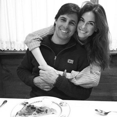 Francisco Rivera celebrando su cumpleaños con su mujer Lourdes Montes