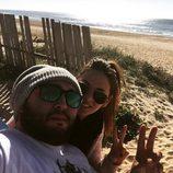 Kiko Rivera y su novia Irene Rosales inauguran 2015 en la playa