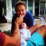 Hayden Panettiere y su primera hija Kaya Evdokia