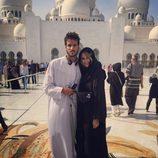 Alba Carrillo y Feliciano López visitando la Gran Mezquita de Abu Dabi