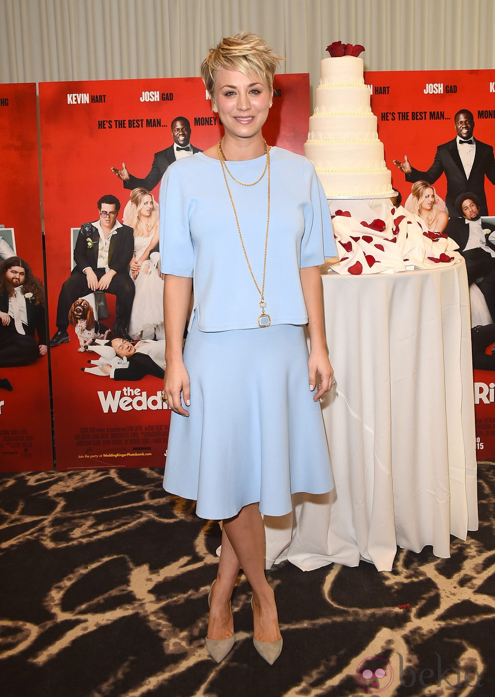 Kaley Cuoco asiste a la presentación de 'The Wedding Ringer' en Los Angeles